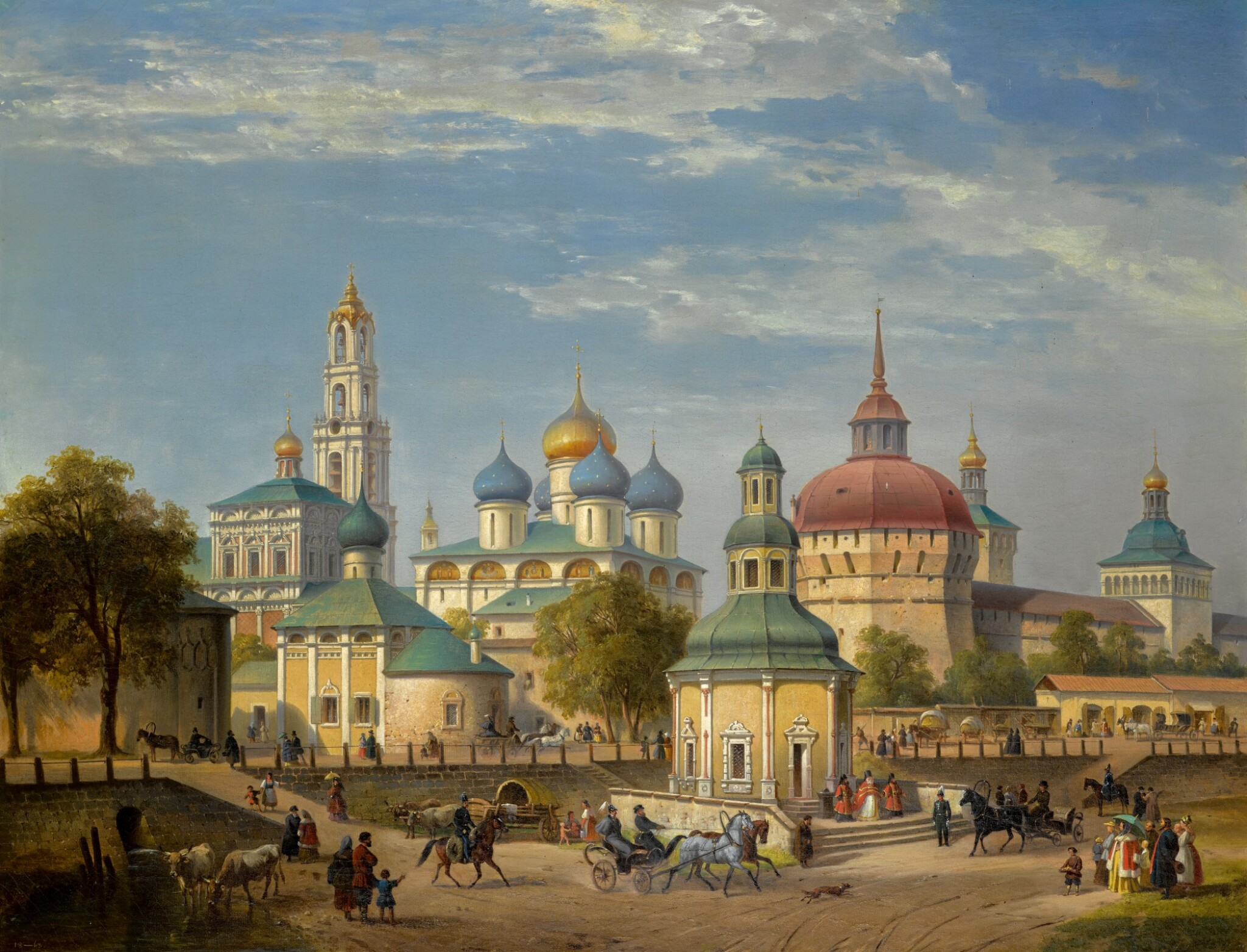 View full screen - View 1 of Lot 31. JOSEPH ANDREAS WEISS   THE TRINITY LAVRA OF ST SERGIUS AT SERGIEV POSAD.