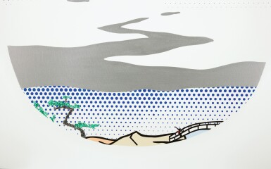 View 2. Thumbnail of Lot 34.  ROY LICHTENSTEIN | LANDSCAPE WITH SILVER RIVER.