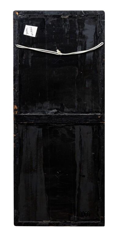 View 4. Thumbnail of Lot 110. Deux panneaux 'Oiseaux et Fleurs' en laque cinabre sculpté Probablement Japon, époque Edo, XIXE siècle | 或為日本 明治時期 十九世紀 剔紅錦地雕喜上梅梢掛屏兩件 | Two carved red lacquer 'birds and flowers' panels, probably Japan, Edo period, 19th century.