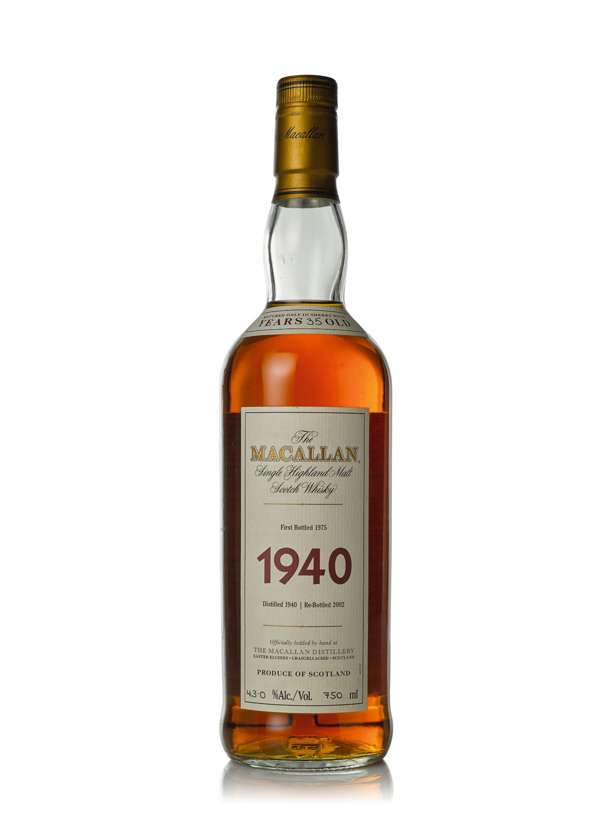 The Macallan Fine & Rare 35 Year Old 43.0 abv 1940 (1 BT75cl)