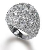 DIAMOND 'BOMBÉ' RING, GRAFF