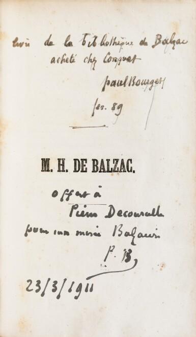 View 2. Thumbnail of Lot 55. Une princesse parisienne. 1840. EO., Rel. de l'ép. De la bibliothèque de Balzac, relié pour lui..