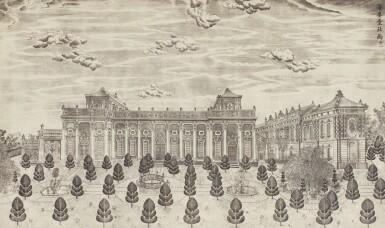View 20. Thumbnail of Lot 362. A SET OF TWENTY PRINTS OF PALACES, PAVILIONS AND GARDENS AT YUANMING YUAN | 巴黎、1977年 《郎世寧圓明園西洋樓》 一組二十幅 水墨紙本.