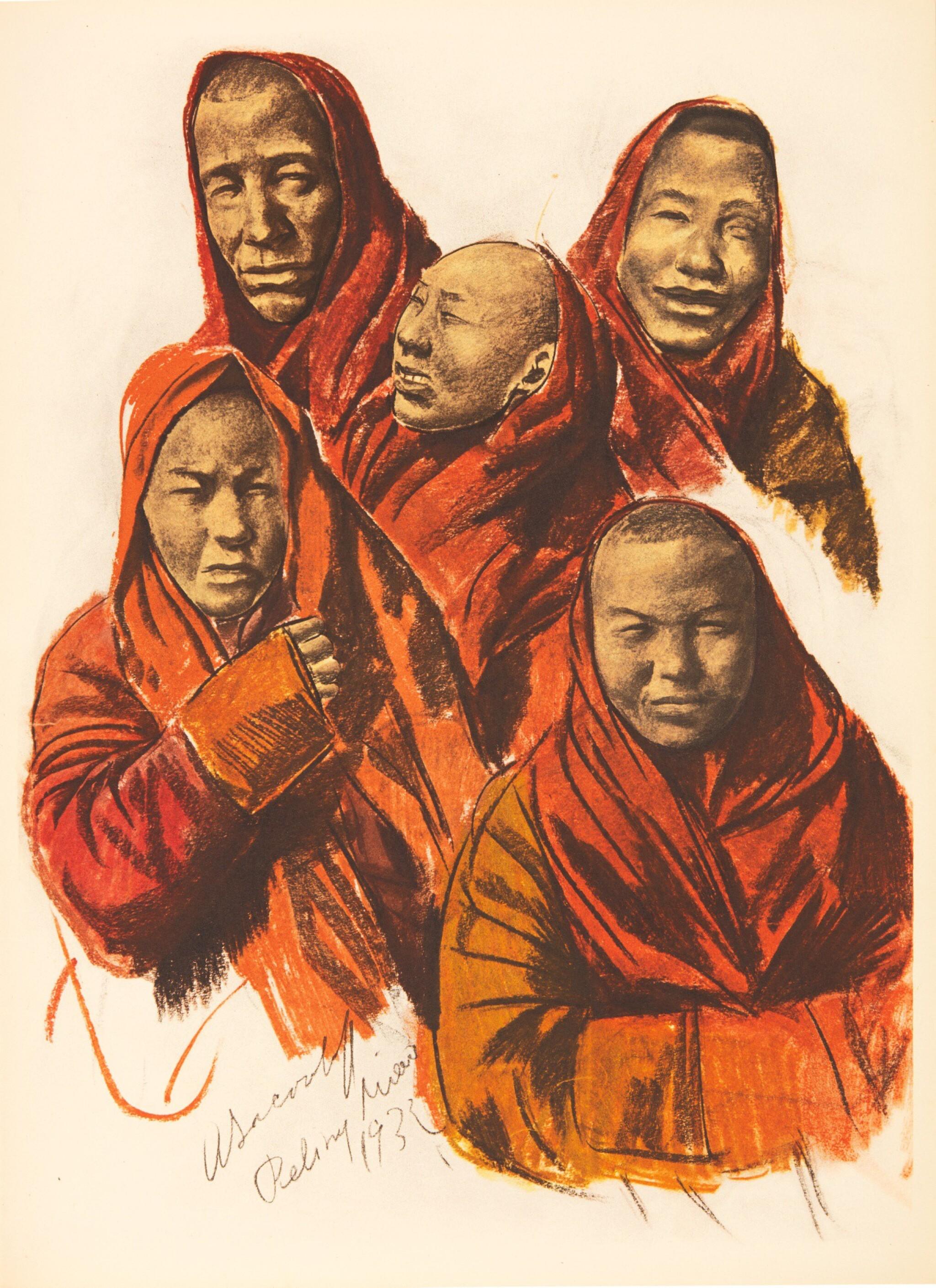 View full screen - View 1 of Lot 306. Iacovleff | Dessins et Peintures d'Asie, [1934].