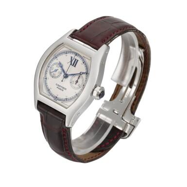 View 2. Thumbnail of Lot 30. Tortue Monopoussoir, Ref. 2396 White Gold Single-Button Chronograph Wristwatch Circa 2000.