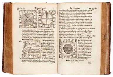 View 2. Thumbnail of Lot 168. Lycosthenes, Prodigiorum ac ostentorum chronicon, Basel, 1557, later calf.