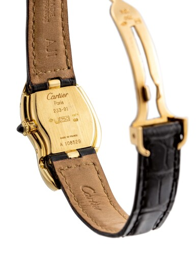 View 3. Thumbnail of Lot 8002. Cartier   Crash, A yellow gold wristwatch, Circa 1991   卡地亞   Crash 黃金腕錶,約1991年製.