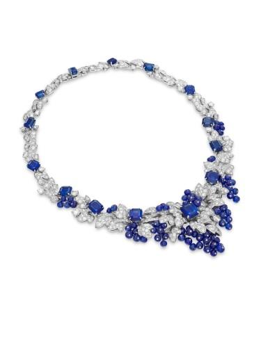 View 2. Thumbnail of Lot 1649. GRAFF | SAPPHIRE AND DIAMOND NECKLACE格拉夫 | 藍寶石 配 鑽石 項鏈  (藍寶石及鑽石共重約142.06及33.96卡拉 ).