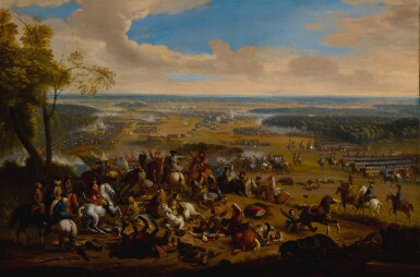 View 3. Thumbnail of Lot 636. Battle of Torino, and another battle scene.