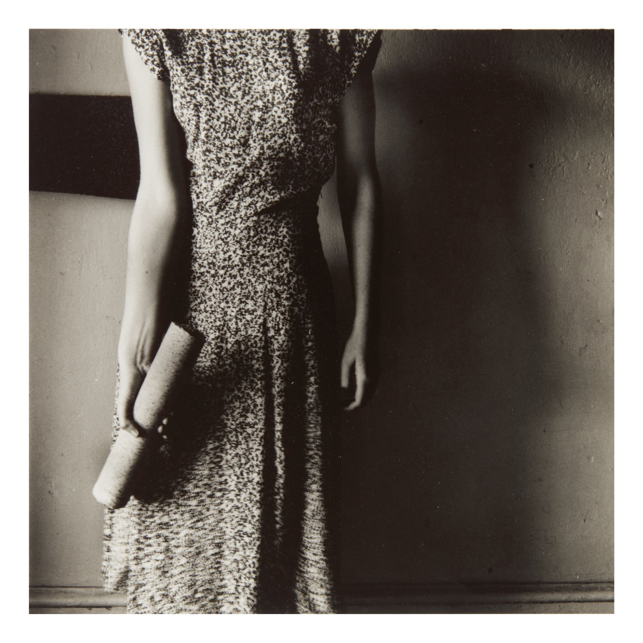 FRANCESCA WOODMAN | 'FIGURE WITH MARBLE COLUMN' (MACDOWELL COLONY, PETERBOROUGH, NEW HAMPSHIRE)