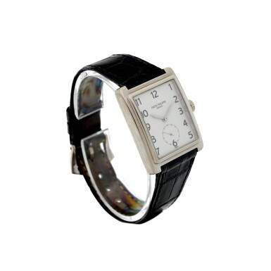 View 3. Thumbnail of Lot 160. PATEK PHILIPPE | REFERENCE 5010-012  A WHITE GOLD RECTANGULAR WRISTWATCH, MADE IN 2001.