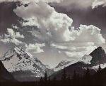 'Mt. Jackson & Mt. Fusilade [sic] - Glacier National Park, Montana' (Noon Clouds)