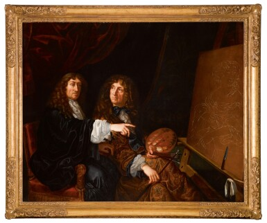 View 2. Thumbnail of Lot 142. Double portrait of Henri (1603-77) and Charles Beaubrun (1604-92).
