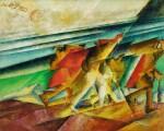 LYONEL FEININGER | LASTTRÄGER AM MEERESSTRAND (I) (BEACHCOMBERS BY THE SEA (I))