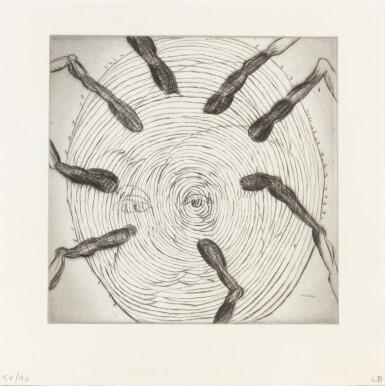 View 1. Thumbnail of Lot 139. Ode à ma mère. Éditions du Solstice, 1995. Ex. signé et numéroté, 9 pointes-sèches monogrammées.