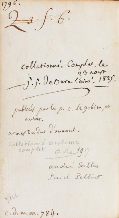 View 3. Thumbnail of Lot 204. COMPAGNIE DE JESUS. Lettres édifiantes... 1717-1776. 34 vol. Ex. aux armes du duc d'Aumont..