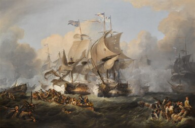 View 1. Thumbnail of Lot 177. The Battle of the First of June, 1794 (After Philip De Loutherbourg).