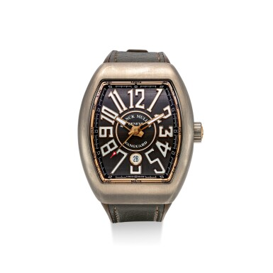 FRANCK MULLER   VANGUARD, REFERENCE V 45 SC DT,  A TITANIUM WRISTWATCH WITH DATE, CIRCA 2015