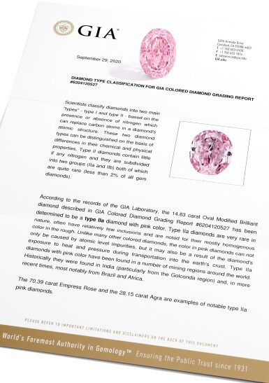 View 9. Thumbnail of Lot 204. SUPERB AND MAGNIFICENT FANCY VIVID PURPLE-PINK DIAMOND.