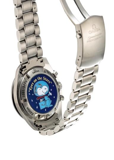 "OMEGA | SPEEDMASTER SNOOPY AWARD, REFERENCE 3578.51.00, A LIMITED EDITION STAINLESS STEEL CHRONOGRAPH WRISTWATCH WITH BRACELET, CIRCA 2003 | 奧米茄 | ""Speedmaster Snoopy Award 型號3578.51.00  限量版精鋼計時鏈帶腕錶,錶殼編號77116603,約2003年製"""