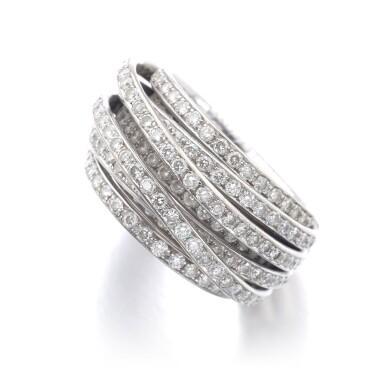 View 2. Thumbnail of Lot 1090. Diamond ring, 'Allegra'.