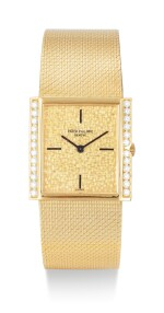 PATEK PHILIPPE | REFERENCE 3491, A YELLOW GOLD AND DIAMOND-SET BRACELET WATCH, CIRCA 1965