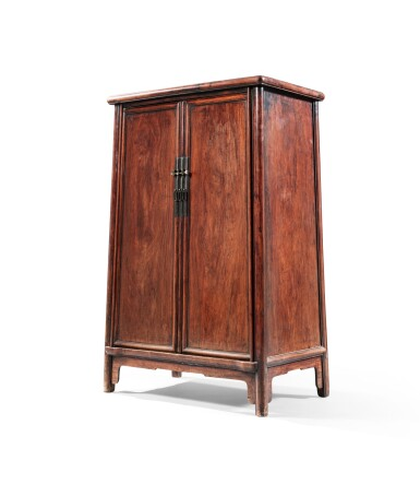 View 6. Thumbnail of Lot 24. A huanghuali rounded-corners cabinet, yuanjiao gui Ming dynasty, 17th century   明 十七世紀 黃花梨圓角櫃.