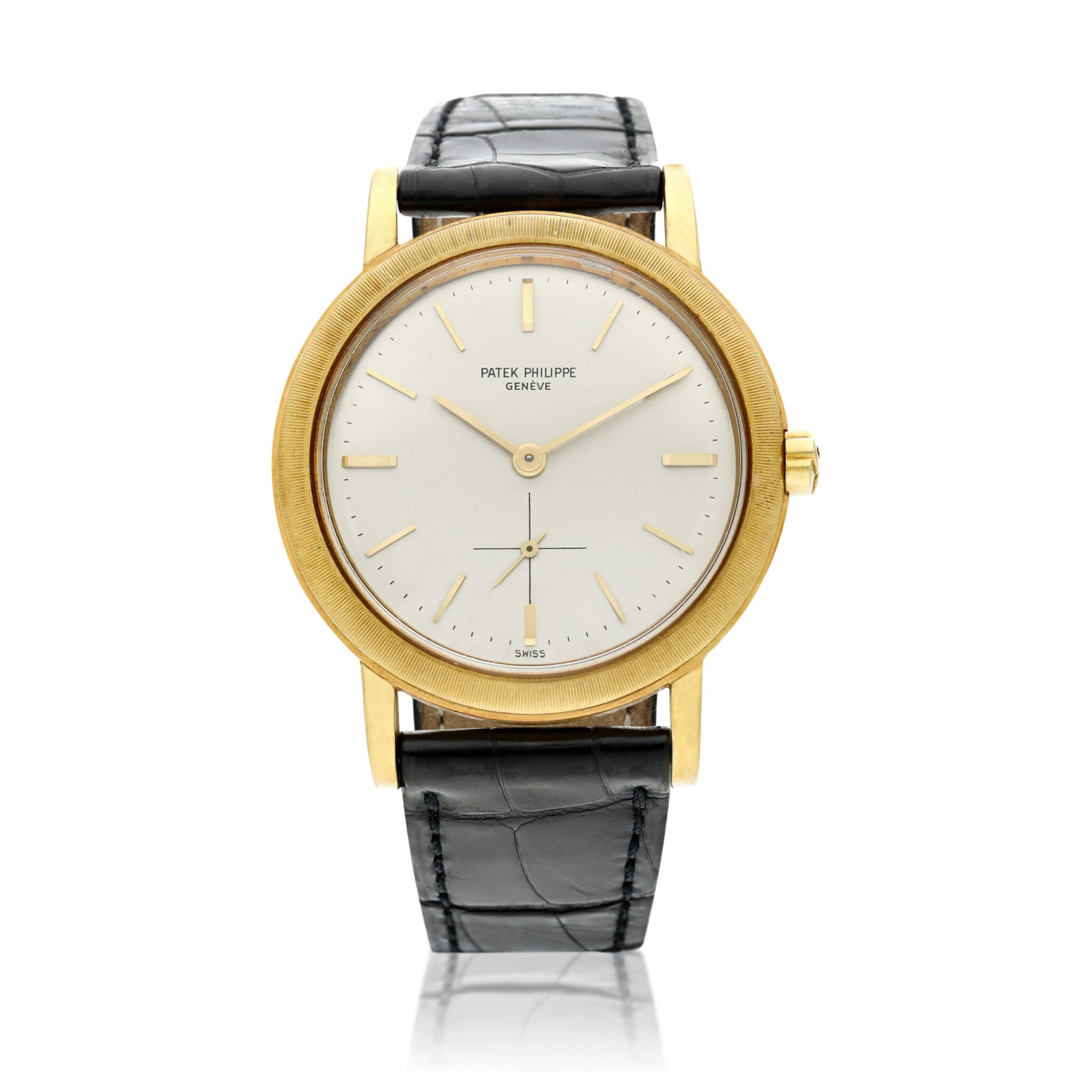 View full screen - View 1 of Lot 228. Reference 3473  A yellow gold automatic wristwatch, Made in 1962.