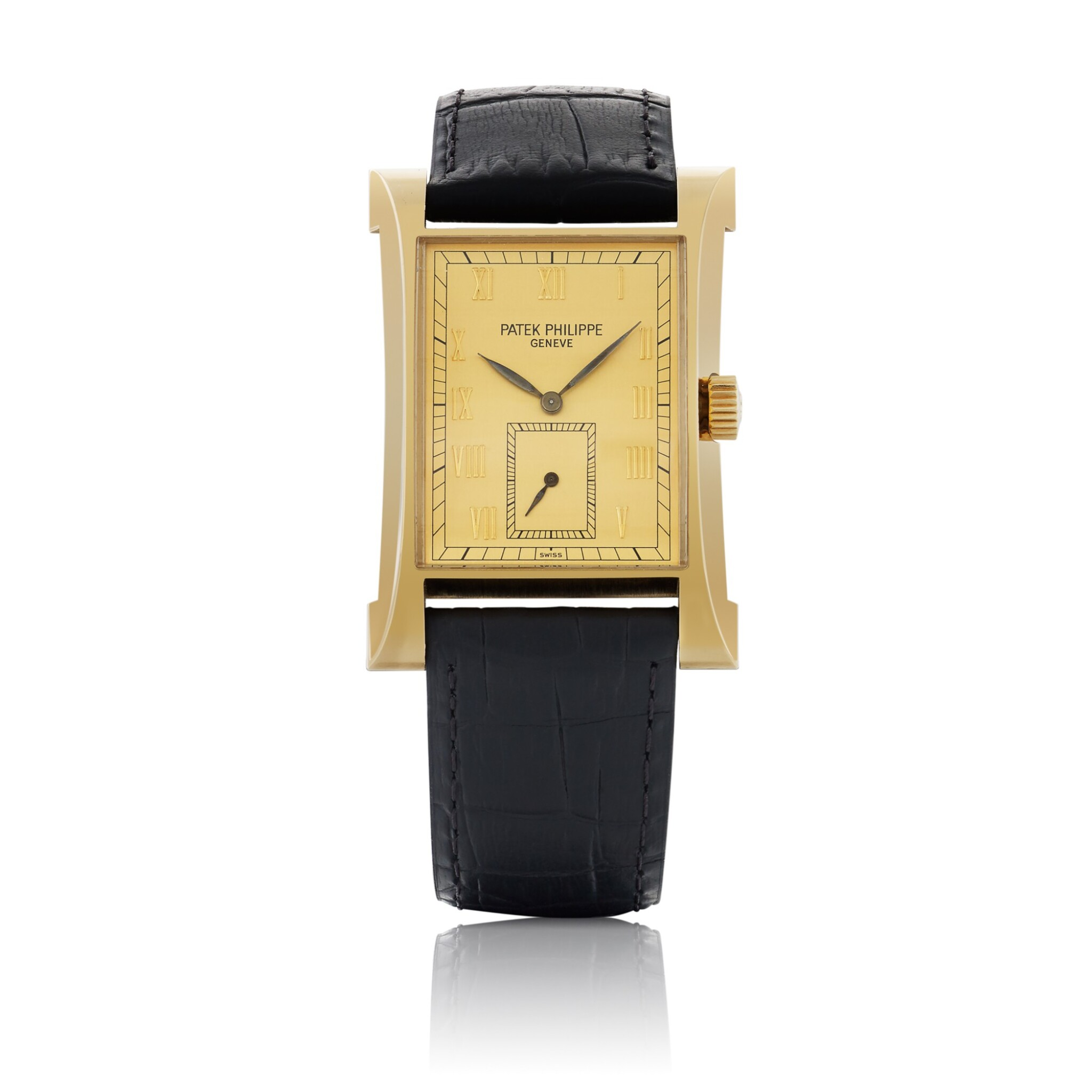 View full screen - View 1 of Lot 317. PAGODA, REF 5500 YELLOW GOLD WRISTWATCH MADE TO COMMEMORATE THE OPENING OF THE NEW WATCHMAKING CENTER OF PATEK PHILIPPE IN GENEVA CIRCA 1997.