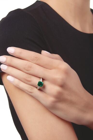 View 2. Thumbnail of Lot 526. EMERALD AND DIAMOND RING, TIFFANY & CO. | 祖母綠配鑽石戒指,蒂芙尼.