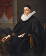 JAN ANTHONISZ. VAN RAVESTEYN | PORTRAIT OF A SEATED MINISTER, AGED 76, THREE-QUARTER-LENGTH