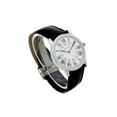View 3. Thumbnail of Lot 116. CARTIER   REFERENCE 3603 RONDE SOLO DE CARTIER A STAINLESS STEEL WRISTWATCH WITH DATE, CIRCA 2016.