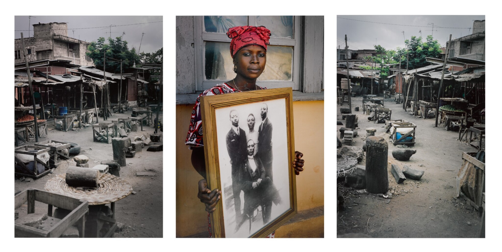 View full screen - View 1 of Lot 36. Untitled Triptych, Code Noir Series, 2014.