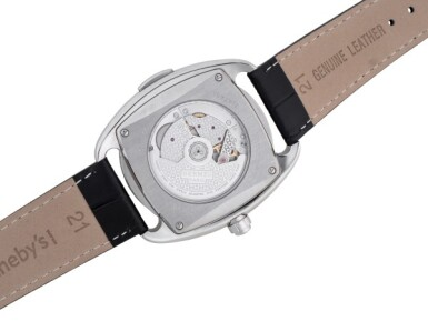 View 3. Thumbnail of Lot 99. HERMÈS   DRESSAGE L'HEURE MASQUÉE, REF DR5.810 LIMITED EDITION STAINLESS STEEL DUAL TIME WRISTWATCH WITH HIDDEN HOUR HAND CIRCA 2015.