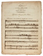 "W. A. Mozart. Early edition of the parts of the aria ""Ch'io mi scordi di te"", K.505"