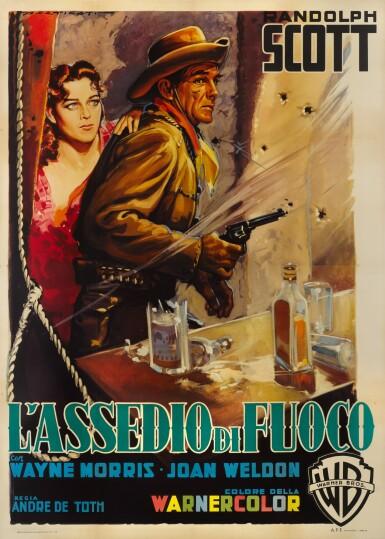 RIDING SHOTGUN / L'ASSEDIO DI FUOCO (1954) POSTER, ITALIAN