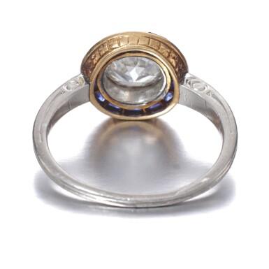View 3. Thumbnail of Lot 665. Diamond and sapphire ring, circa 1915 | 鑽石配藍寶石戒指,約1915年.