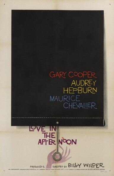 Love in the Afternoon (1957) poster, US