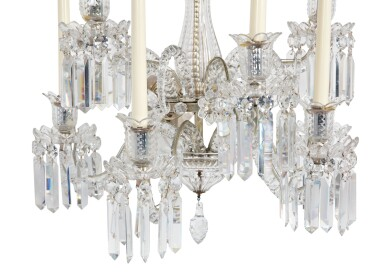 View 4. Thumbnail of Lot 261.  A PAIR OF CUT AND MOULDED GLASS SIX-LIGHT WALL LIGHTS IN THE MANNER OF BACCARAT.