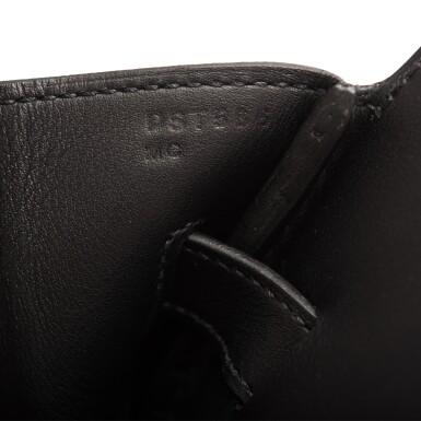 View 9. Thumbnail of Lot 32. Hermès Black Shadow Birkin 35cm of Swift Leather.