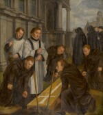 FLEMISH SCHOOL, 16TH CENTURY | The Seventh Act of Mercy: Burying the Dead
