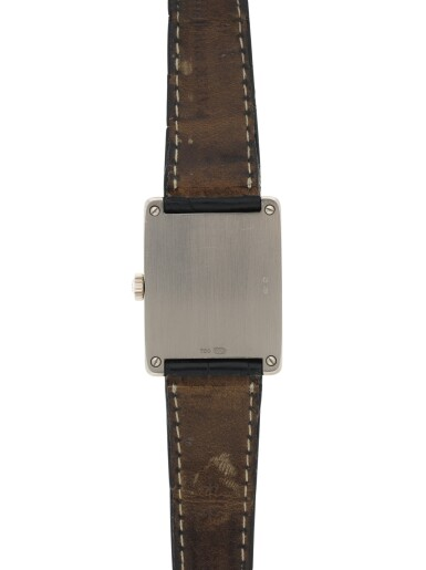 View 6. Thumbnail of Lot 160. PATEK PHILIPPE | REFERENCE 5010-012  A WHITE GOLD RECTANGULAR WRISTWATCH, MADE IN 2001.