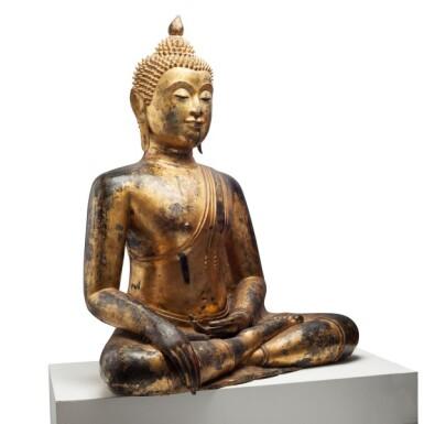 View 2. Thumbnail of Lot 63. Thailand, Ayutthaya Period, 16th/17th century   Seated Buddha.