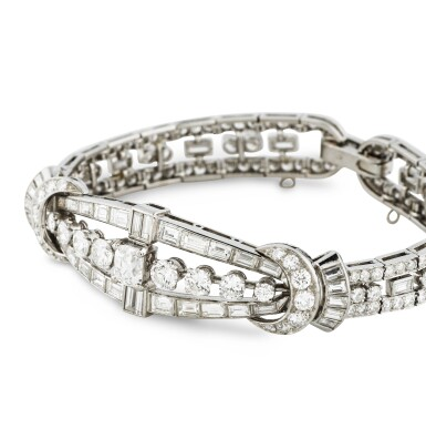 View 2. Thumbnail of Lot 20. BRACELET DIAMANTS | DIAMOND BRACELET .