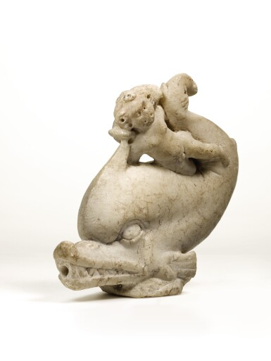View 2. Thumbnail of Lot 13. A ROMAN MARBLE GROUP OF EROS ON A DOLPHIN, CIRCA 2ND CENTURY A.D..