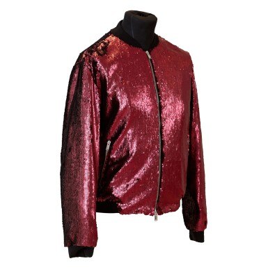 View 2. Thumbnail of Lot 9. Mick Jagger's 'No Filter' European Tour Red Sequin Jacket, 2017.
