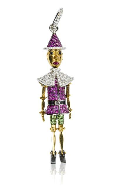 Gem set and diamond pendant, 'Pinocchio', Michele della Valle