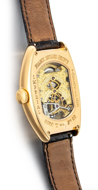 View 3. Thumbnail of Lot 1104. FRANCK MULLER | IMPERIAL TOURBILLON, REFERENCE 5850 T, A YELLOW GOLD TOURBILLON WRISTWATCH, CIRCA 2005.