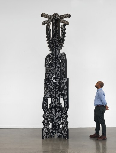 View 3. Thumbnail of Lot 418. Untitled (Totem).