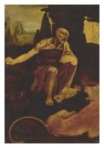 FOLLOWER OF LEONARDO DA VINCI, 16TH OR 17TH CENTURY | SAINT JEROME
